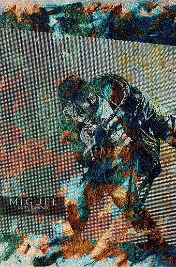 Photo and Artwork of Miguel by  Cathy R. Foreman  - Available for purchase at her  site .