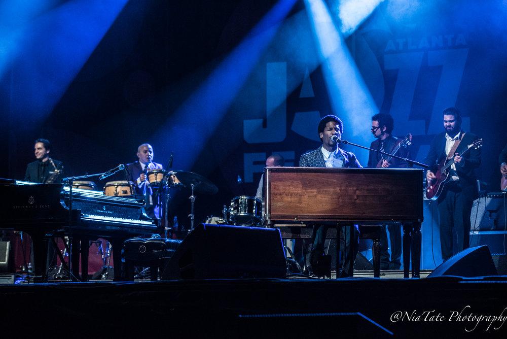 John Batiste and the Dap Kings at The 2018 Edition of The Atlanta Jazz Fest | Image by:  Chinita Tate-Burroughs