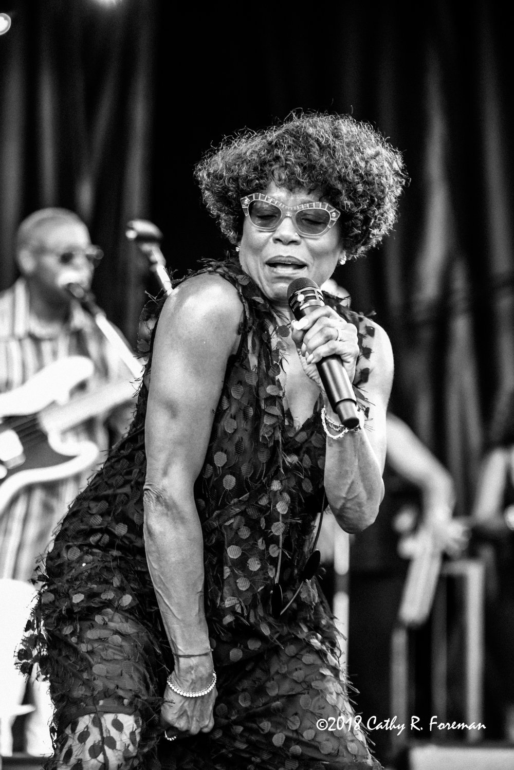 Dee Dee Bridgewater performs at the 2018 Richmond Jazz Festival. Image by: Cathy R. Foreman