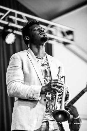 Keyon Harrold performs at the 2018 Richmond Jazz Festival. Image by: Cathy Foreman