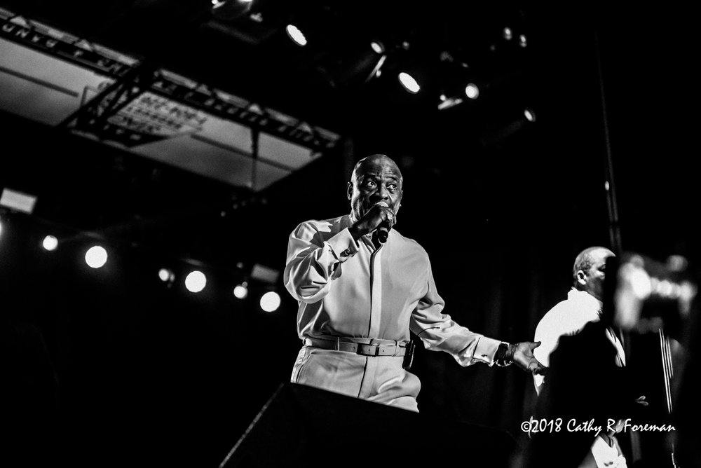 The O'Jays performs at the 2018 Richmond Jazz Festival. Image By:  by Cathy R. Foreman