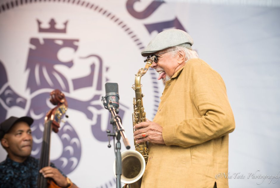 Charles Lloyd at The Newport Jazz Festival | image by Chinita Tate-Burroughs