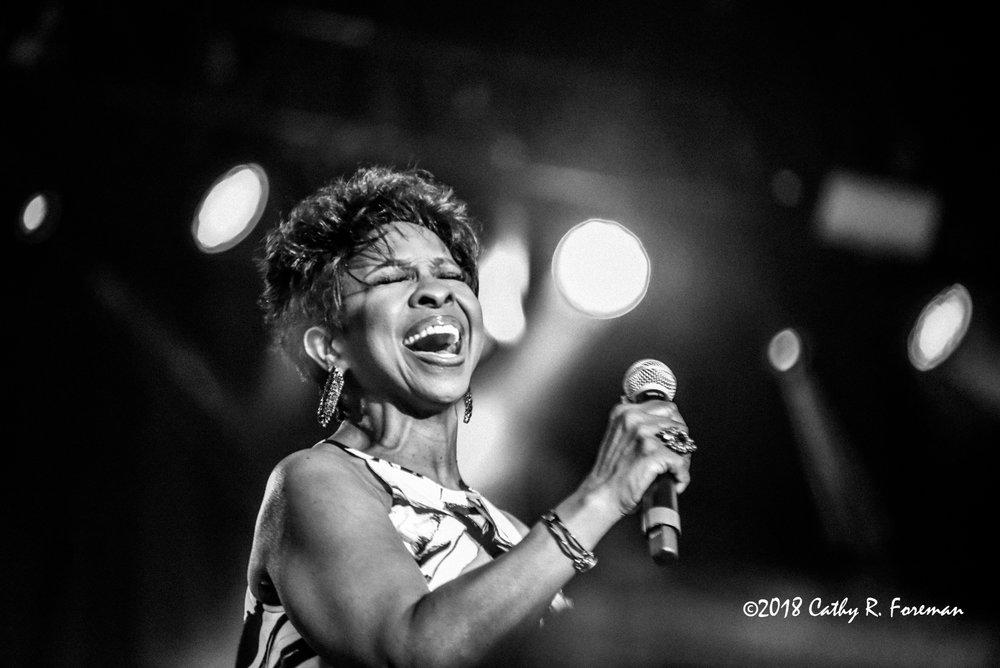 Gladys Knight performs at the 2018 Richmond Jazz Festival. Image By:by Cathy R. Foreman