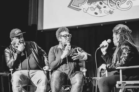 Valerie Simpson speaking truth at Kindred Presents. image by cathy foreman