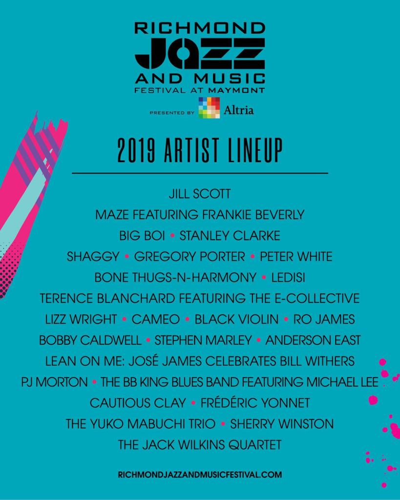 2019 Richmond Jazz and Musci Festival Lineup